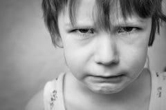 chłopiec smutna Fotografia Royalty Free