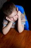 chłopiec stół Zdjęcie Stock