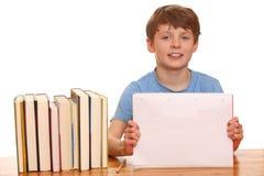 chłopiec studiowanie Zdjęcie Royalty Free