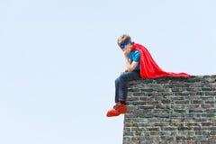 Chłopiec super bohater Fotografia Stock