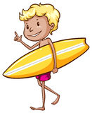 Chłopiec surfing Zdjęcie Stock