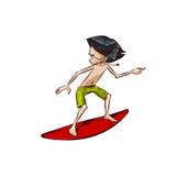chłopiec surfingowiec royalty ilustracja