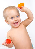chłopiec szczęśliwa Zdjęcie Royalty Free