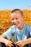 chłopiec szczęśliwa Obrazy Royalty Free