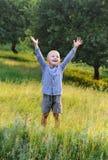 chłopiec szczęśliwa Zdjęcia Royalty Free