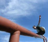 chłopiec szczęśliwy jumping Obrazy Royalty Free