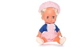 chłopiec szczęśliwy lalki posiedzenia Zdjęcia Royalty Free