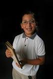 chłopiec szczęśliwy ucznia Obrazy Royalty Free