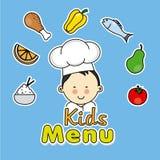 Chłopiec szef kuchni ilustracja wektor