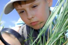 chłopiec szkła target1720_0_ Obrazy Stock