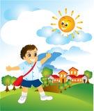 chłopiec szkoła Ilustracji