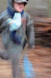 chłopiec szybki działający bardzo Obrazy Royalty Free