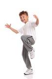 Chłopiec taniec obrazy royalty free