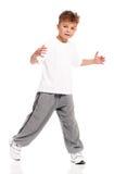 Chłopiec taniec Zdjęcia Royalty Free