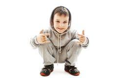 chłopiec target1640_0_ trochę Zdjęcia Stock