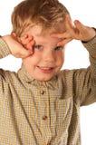 chłopiec target1451_0_ trochę Zdjęcia Stock