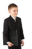 chłopiec teczki mienie fotografia royalty free