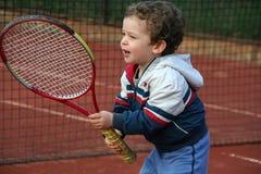 chłopiec tenis Zdjęcia Royalty Free