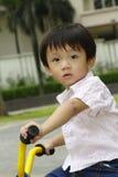 chłopiec trójkołowiec Zdjęcia Royalty Free