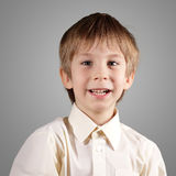 Chłopiec trochę emocjonalny atrakcyjny set robi twarzom Obraz Royalty Free