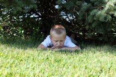 chłopiec trochę smutna Zdjęcie Stock