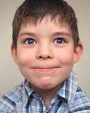 chłopiec twarz ciągnie potomstwa Obraz Stock