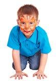 chłopiec twarzy odosobniony mały obraz obraz royalty free