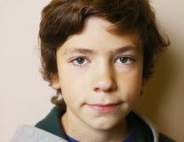 Chłopiec twarzy zamknięty up portret fotografia stock