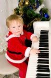 Chłopiec ubierał jako Święty Mikołaj obraz stock