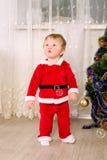 Chłopiec ubierał jako Święty Mikołaj obraz royalty free