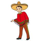 chłopiec ubierał tradycyjnego meksykańskiego kostium ilustracji