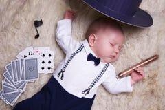 Chłopiec ubierająca jako dżentelmen Obraz Royalty Free