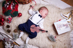 Chłopiec ubierająca jako dżentelmen Zdjęcia Stock