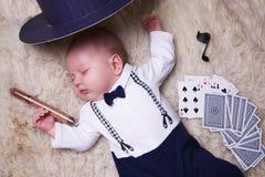 Chłopiec ubierająca jako dżentelmen Zdjęcia Royalty Free