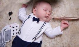 Chłopiec ubierająca jako dżentelmen Zdjęcie Royalty Free