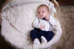 Chłopiec ubierająca jako dżentelmen Fotografia Royalty Free