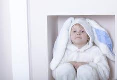 Chłopiec ubierająca jako królik Zdjęcie Stock