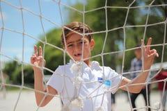 Chłopiec uchodźca Obraz Royalty Free