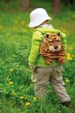 Chłopiec uczy się świat Zdjęcie Royalty Free