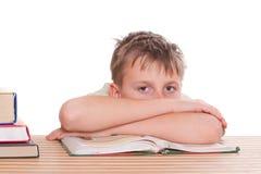 Chłopiec uczy się lekcje fotografia stock