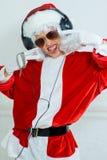 Chłopiec udaje jest Zły Santa Fotografia Royalty Free
