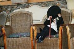chłopiec ukrywa stronę Obrazy Royalty Free