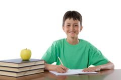 chłopiec uroczy studiowanie Fotografia Stock