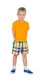 Chłopiec w żółtej koszula Obraz Stock