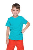 Chłopiec w błękitnej koszula obrazy royalty free