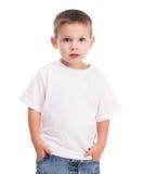 Chłopiec w białej koszula Obraz Royalty Free