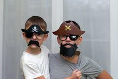Chłopiec w maska pirata sztuce obrazy royalty free