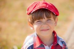 Chłopiec w nakrętce Fotografia Stock