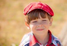 Chłopiec w nakrętce Fotografia Royalty Free