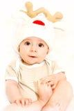 Chłopiec w nakrętka rogaczach Fotografia Royalty Free